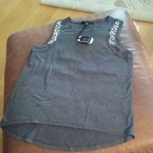 NWT ROMEO JULIET COUTURE EMBELLISHED TOP M